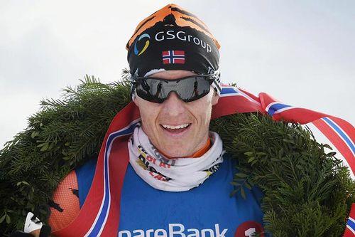 Petter Eliassen etter sin seier i Reistadløpet 2017, hvor han var i en helt egen klasse i det som var sesongens nest siste renn av langløpscupen Visma Ski Classics. Foto: Magnus Östh.