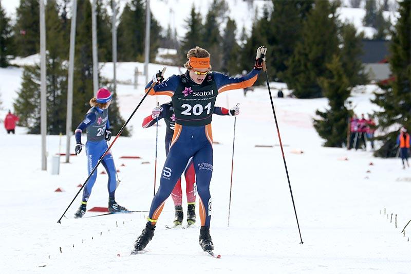 Ansgar Evensen avgjorde norgescupfinalen i klasse menn 18 år 2017 på Gålå til sin fordel.   Foto: Erik Borg.