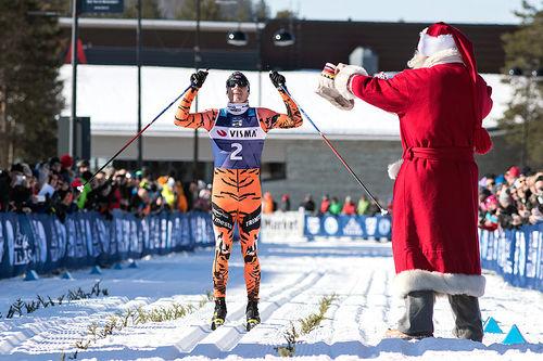 Petter Eliassen da han vant Ski Classics-finalen Ylläs-Levi i 2017. Foto: Manzoni/NordicFocus.