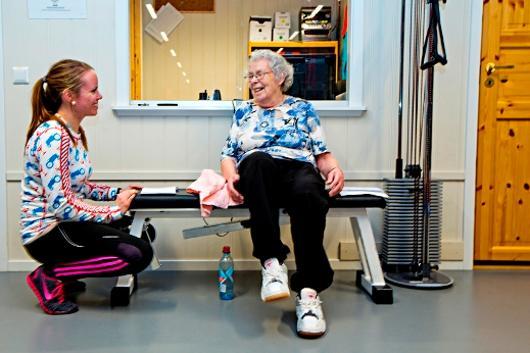 Friskliv, fysioterapeut i veiledning