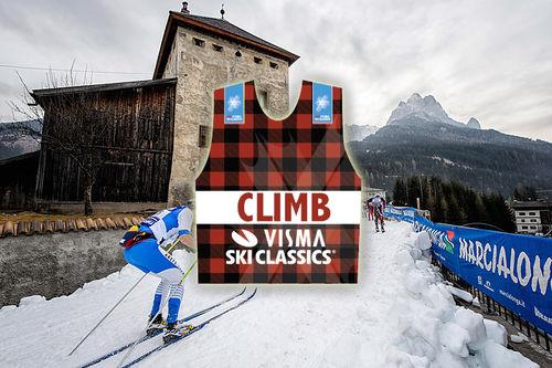 Visma Ski Classics introduserer klatretrøye foran sesongen 2017/2018. Foto: Rauschendorfer/NordicFocus. Grafikk: Visma Ski Classics. Collage: Langrenn.com.