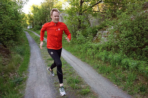 Erlend Damon Stokke i kompresjonstøy fra Dæhlie. Foto: Privat.