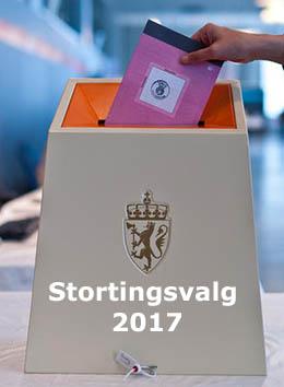Stortingsvalg  2017 fremside med tekst