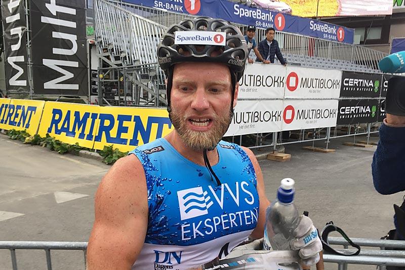 Martin Johnsrud Sundby etter seieren i det 60 km lange Blink Classics 2017. Foto: Sigmund Hov Moen.