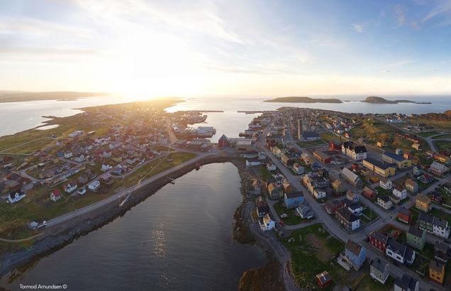 Vardø summer aerial photo © Biotope