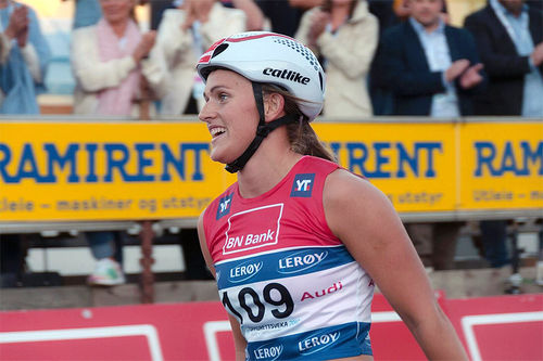 Barbro Kvåle inn til seier på fristilsprinten under Toppidrettsveka i Trondheim 2017. Foto: Kristian Ulen/Toppidrettsveka.