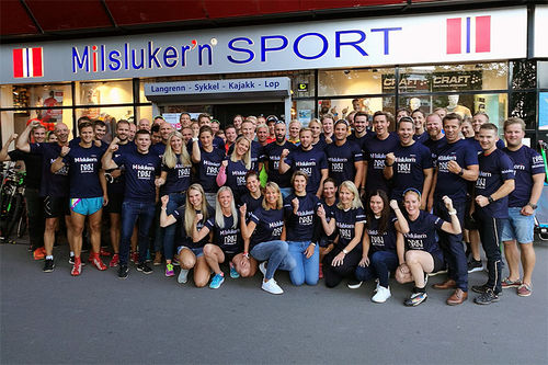 Lagbilde for Team Milslukern - Driv Trening forrige sesong. Foto: Øystein Rodem.