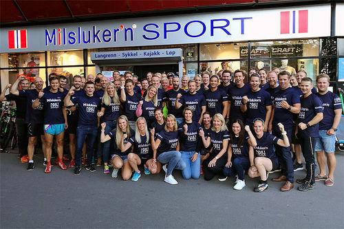 Lagbilde for Team Milslukern - Driv Trening 2017/2018. Foto: Øystein Rodem.