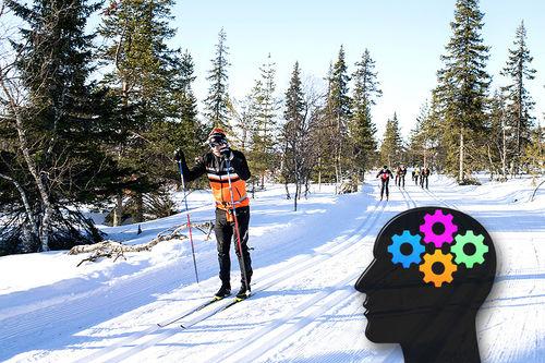 Mental trening kan være noe av det som skiller de beste fra de nest beste i idretten. Her er Petter Eliassen ute og tester løypa i forkant av Ylläs-Levi forrige sesong, et renn han vant. Foto: Manzoni/NordicFocus. Grafikk: Creative Commons/Pixabay.com.