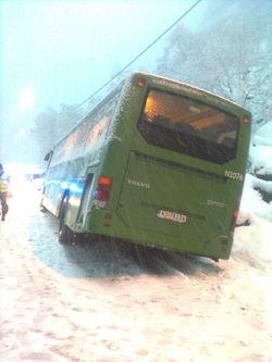 Buss utfor
