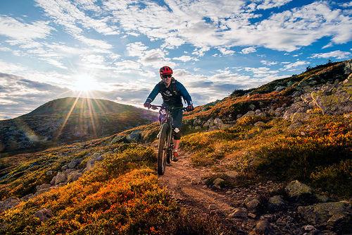 Sykling i Trysilfjellet. Foto: Ola Matsson/Trysil.