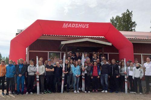 Team Madshus på plass i Sverige og Torsby under deres samling nå i september. Foto: Madshus.