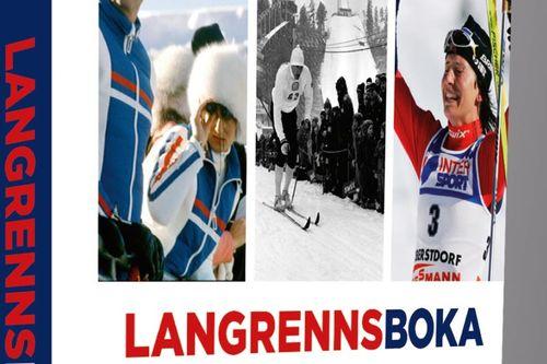 Utsnitt av omslaget til Langrennsboka - De største øyeblikkene - Utgitt på Goliat Forlag, høsten 2017.