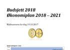 Rådmannens forslag til budsjett 2018 og økonomiplan 2018 - 2021