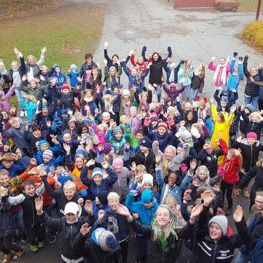 Elever og lærere på Haugtun 2017