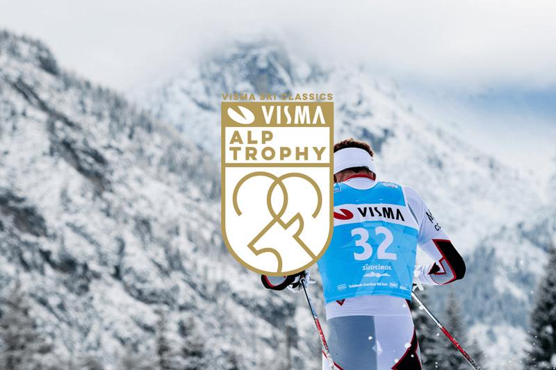 Visma Alp Trophy består av rennene Kaiser Maximilian Lauf, La Diagonela, Marcialonga og Toblach-Cortina. Foto/grafikk: Visma Ski Classics.