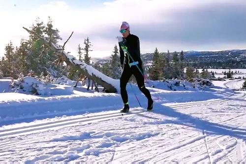 Sjusjøen i oktober. Skjermdump fra YouTube-kanalen til Vetle Thyli.
