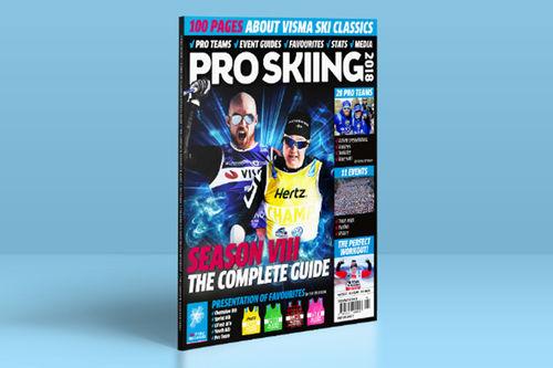 Forsiden til Pro Skiing 2018. Foto: Visma Ski Classics.