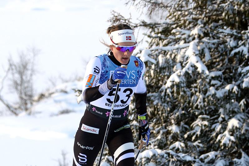 Maiken Caspersen Falla under den nasjonale sesongåpningen på Beitostølen 2017. Foto: Erik Borg.
