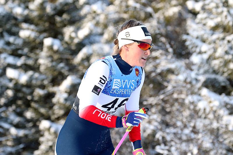 Mari Eide i aksjon under sesongåpningen på Beitostølen 2017. Foto: Erik Borg.