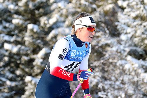 Mari Eide er første norske løper ut fra start i Dresden lørdag. Foto: Erik Borg.