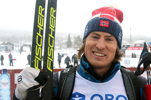 Kasper Stadaas overrasket med en råsterk 2. plass på den klassiske sprinten under sesongåpningen på Beitostølen 2017. Foto: Erik Borg.