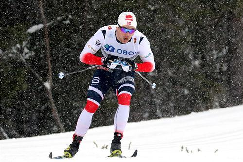 Fredrik Riseth i den klassiske sprinten under sesongåpningen på Beitostølen. Det endte til slutt med en sterk 4. plass. Foto: Erik Borg.
