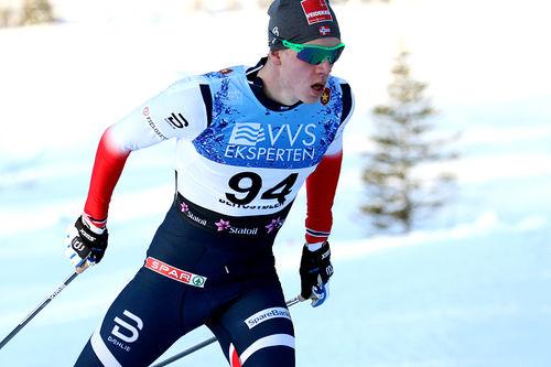 Jan Thomas Jenssen klinte til med en råsterk tredjeplass på 15 kilometer fri teknikk under den nasjonale sesongåpningen på Beitostølen 2017. Foto: Erik Borg.