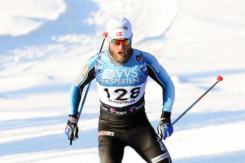 Martin Johnsrud Sundby hadde en tung dag på 10-kilometeren i fri teknikk under den nasjonale sesongåpningen på Beitostølen 2017. Det endte med 7. plass. Foto: Erik Borg.