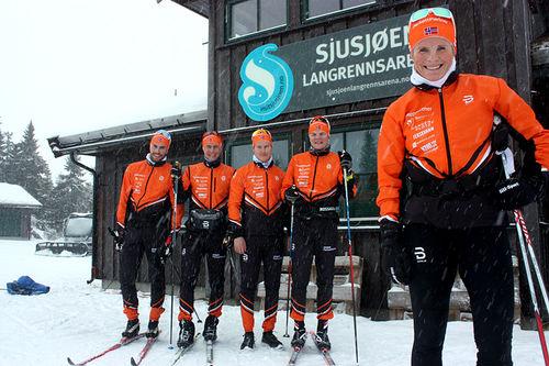 Hilde Gjermundshaug Pedersen gjør comeback for Team Parkettpartner i Visma Ski Classics. Foto: Arnt Nyborg.