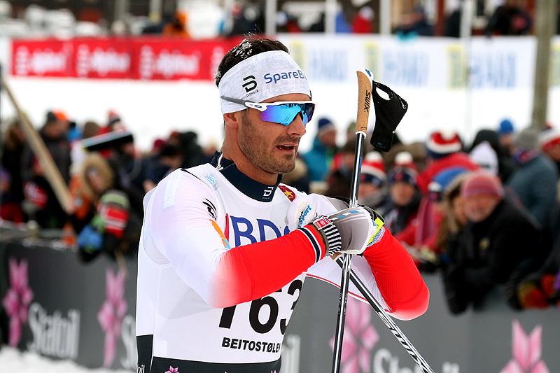 Hans Christer Holund under sesongåpningen på Beitostølen. Foto: Erik Borg.
