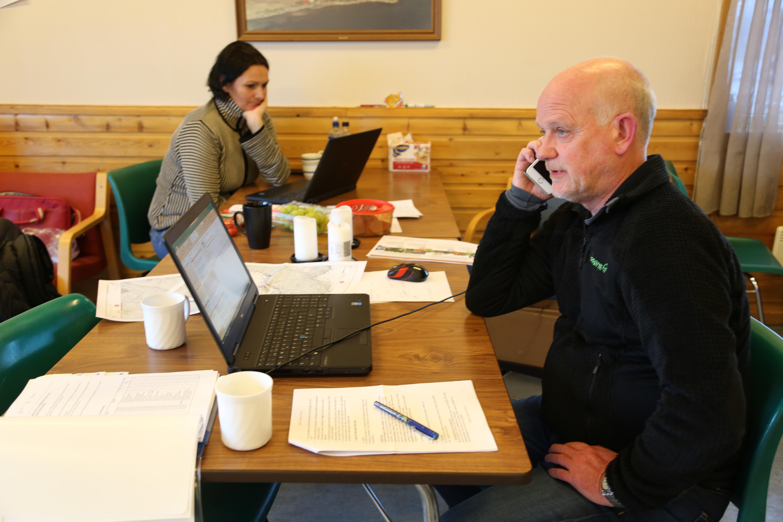 Øvelse Mattilsynet kommunen Frode Ramskjell og Monica Johansen
