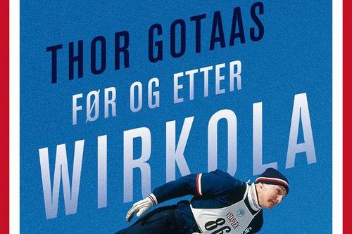 Deler av forsiden til boka Før og etter Wirkola, utgitt av Gyldendal og skrevet av Thor Gotaas.