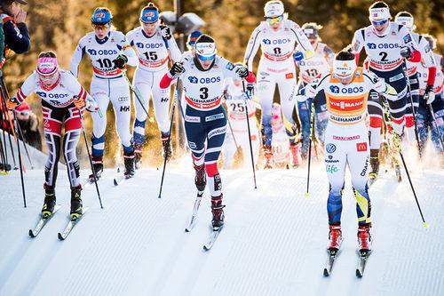 Tetfeltet i verdenscupen. Foto: Modica/NordicFocus.