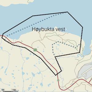 Ny planavgrensning Høybukta vest