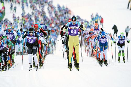 Fra Sgamebda, 2. renn i Visma Ski Classics 2017/2018. Foto: Magnus Östh/Visma Ski Classics.