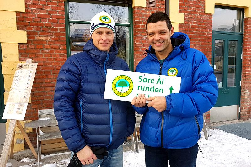 Håvard Selbæk (t.v.) og Geir Evensen, Søre Ål IL. Arrangørfoto.