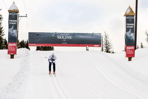 Team Mosetertoppen Skiline kapret seieren i StafettBirken 2018. Bildet er fra Skiline sin testsone i Hafjell Mosetertoppen.