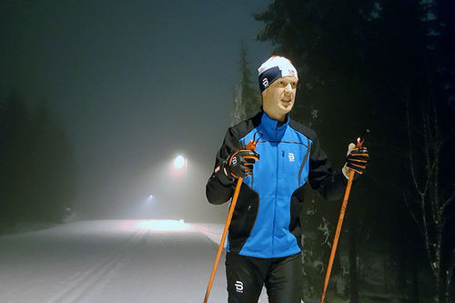 Erlend Damon Stokke og resten av gjengen i Team Raske Gutter utnytter de flotte Oslo-forholdene til fulle. Foto: Privat.