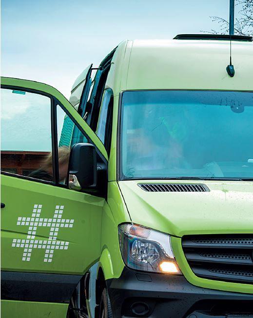 Minibuss - et illustrasjonsbilde for bestillingstransport som Ruter tilbyr