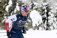 Daniel Stock på vei mot 3. plass på 15 km under Gåsbu-NM 2018. Foto: Erik Borg.