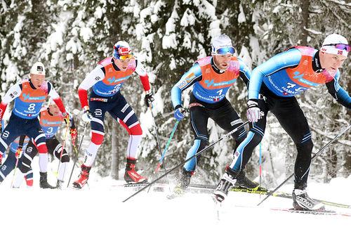 Løpere i aksjon under NM Gåsbu 2018. Foto: Erik Borg.