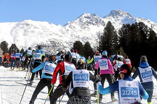 Fra en tidligere utgave av Engadin Skimarathon. Foto: Andy Mettler/swiss-image.ch.