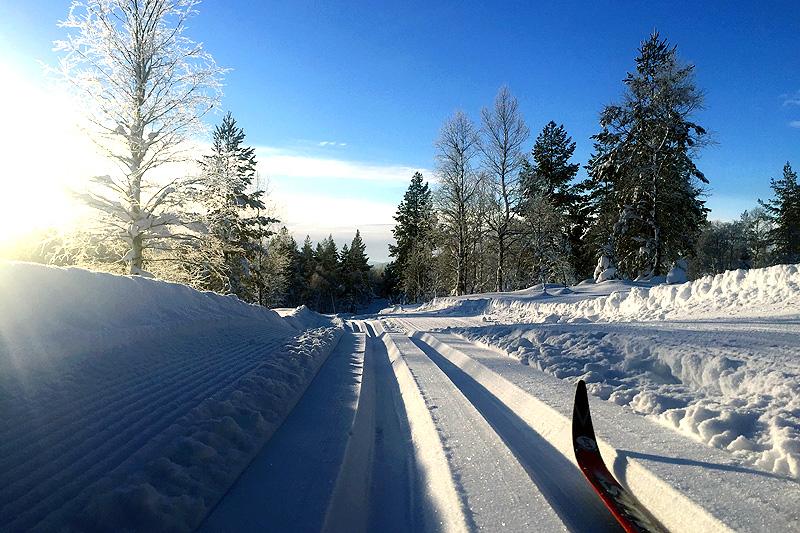 Som bildet viser er det flotte forhold i løypa til Vindfjelløpet foran 2018-utgaven. Foto: Ole Tallakstad.