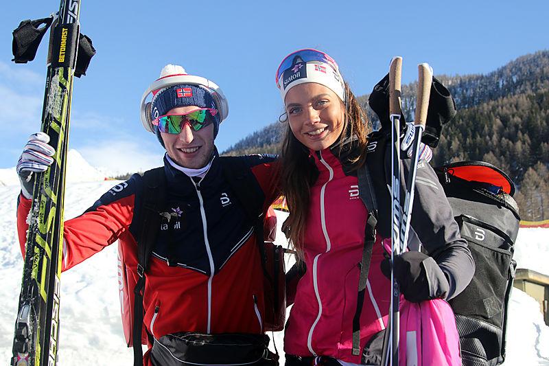 Jørgen Lippert og Kristine Stavås Skistad har bakgrunn fra NTG Geilo og NTG Lillehammer. Under Junior-VM 2018 i Goms har de begge kapret VM-medaljer. Foto: Erik Borg.