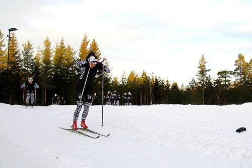 Treningsøkt ved Telemark Toppidrett Gymnas. Foto: TTG Langrenn.