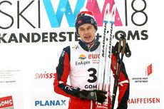Harald Østberg Amundsen ble verdensmester på skiathlon under Junior-VM i Goms 2018. Foto: Erik Borg.