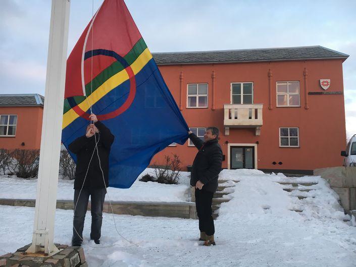 Samisk flagg heising 2018