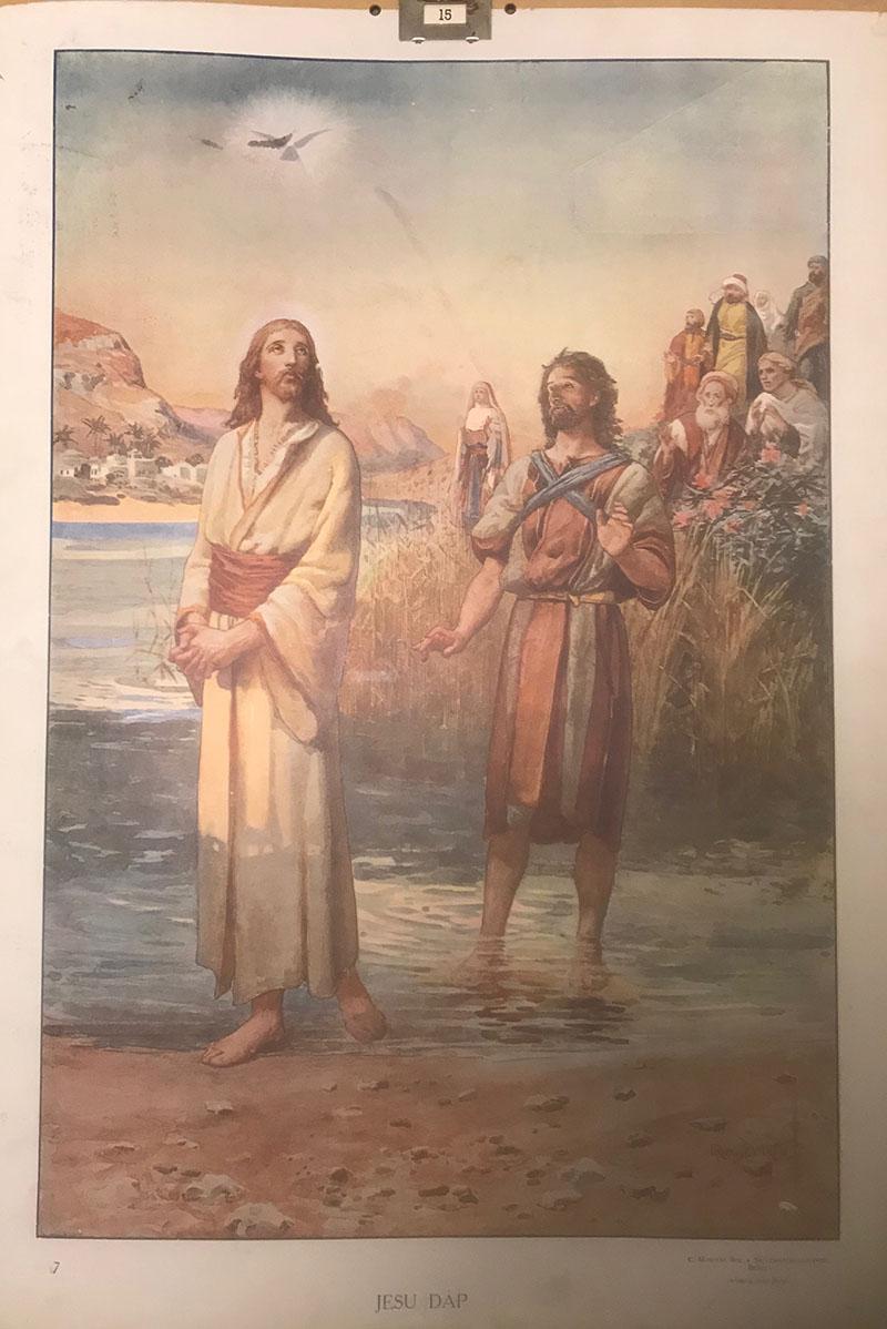 Bibelsk motiv - Jesus dåp 2
