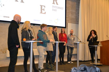Ungdomspanel på Safer internet day